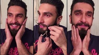 Ranveer Singh Gets Very Emotional While Cutting His Moustache And Beard