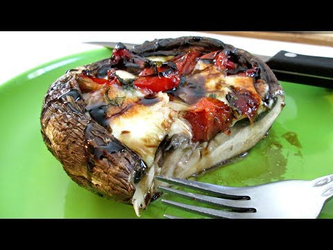 Caprese Portobellos- Speedy Cooking Videos - PoorMansGourmet