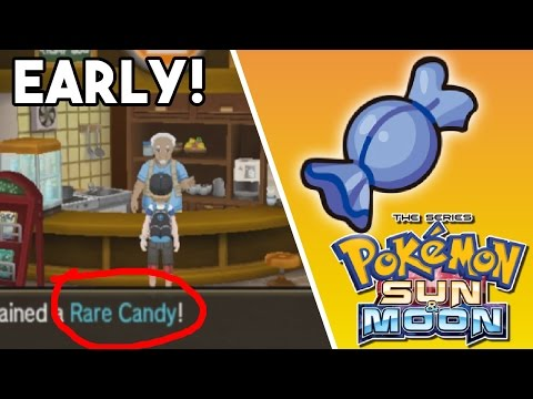 HOW TO GET FREE RARE CANDY EARLY IN POKEMON SUN & MOON !!