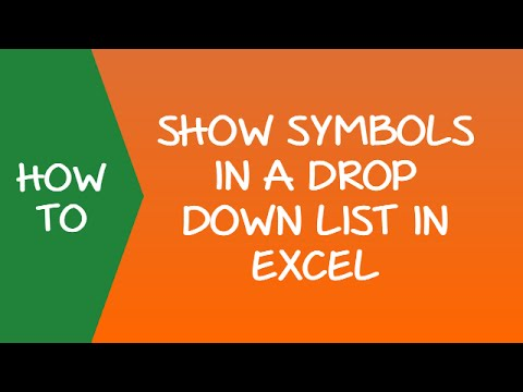 How to Use Symbols in Drop Down List in Excel