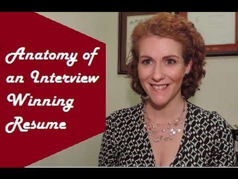 Anatomy of an Interview Winning Resume