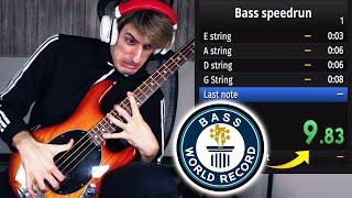 BASS Speedrun WORLD RECORD | 9.84s | 100% Glitchless (4 Strings)