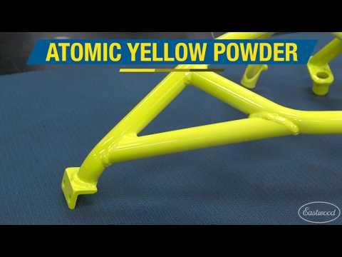 Atomic Yellow Powder Over Hotcoat Appliance White Powder - Powder Coating At Eastwood