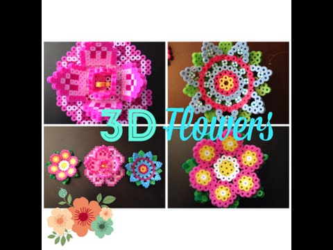 DIY 3D Perler Bead Flowers//2 Different Pretty and Fun Designs!!