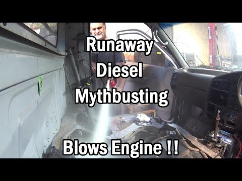 How to Stop a Run-away Diesel -ENGINE BLOWS !