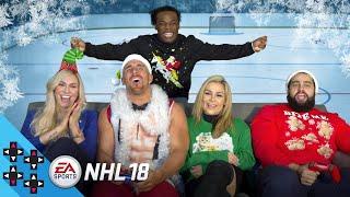 NHL 18: RUSEV vs. MOJO RAWLEY (feat. NATALYA & CHARLOTTE FLAIR) - Gamer Gauntlet