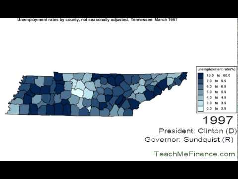 Tennessee Unemployment Map