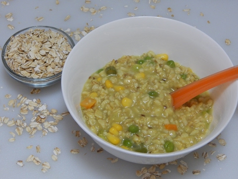 Healthy Baby Food Recipe - Vegetable Oats for Toddler & Kids l Oatmeal Khichdi l 12+ months