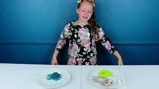 GUMMY vs REAL FOOD!! *Kid Eats a Real Heart and Octopus Gross!*