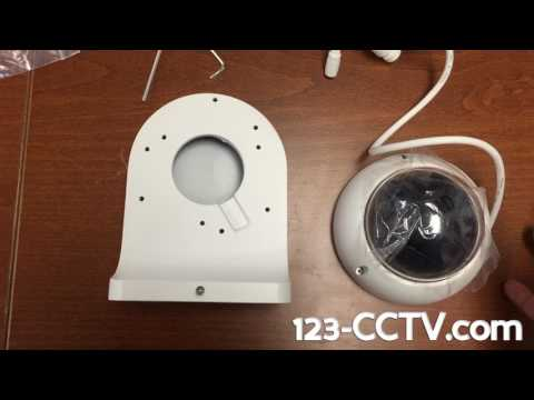 How to use the wall mount with your mini dome ip camera