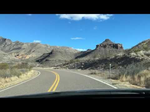 Driving Through Big Bend National Park