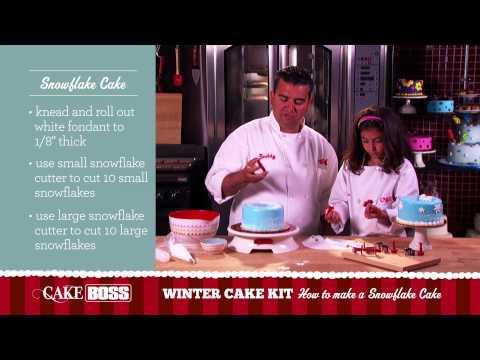How to Make a Snowflake Cake - Garnishing Tips & Techniques - Cake Boss Baking