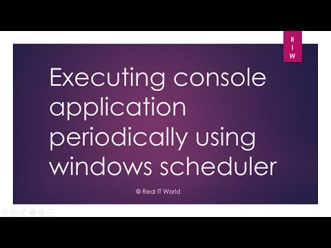Executing console application periodically using windows scheduler