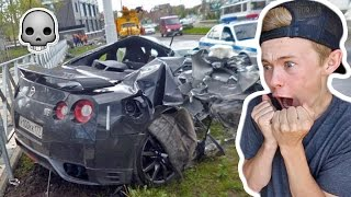 REACTING TO GTR CAR CRASHES!