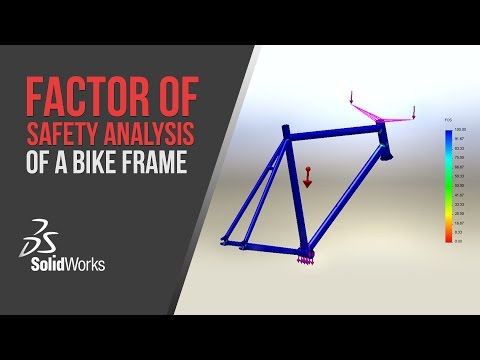 Factor of Safety Analysis of a Bike Frame - SolidWorks Simulation