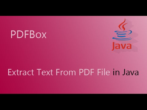 PDFBox Example Code: How to Extract Text From PDF file with java
