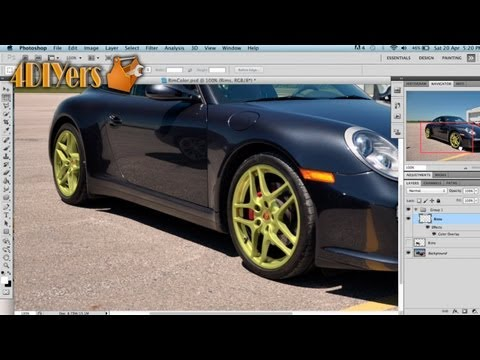 Adobe Photoshop: How to Change the Color of Wheels on a Vehicle