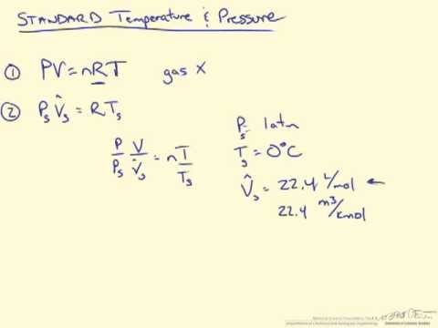 Standard Temperature and Pressure - Ideal Gas Law