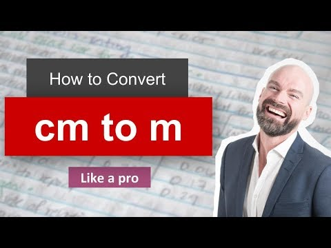 ✅ Convert Cm to M (centimeter to meter) with example : Part 1