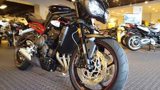 2018 Triumph Street Triple 765 R Exan X-Black EVO exhaust first