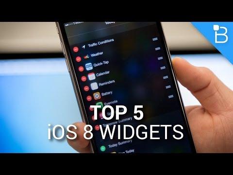 Top 5 iOS 8 Widgets