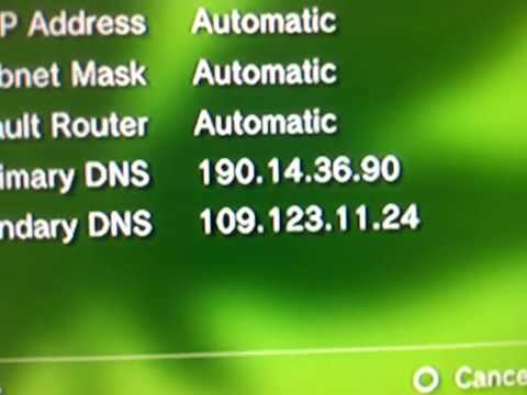 Seting up american dns codes on my ps3 part 1