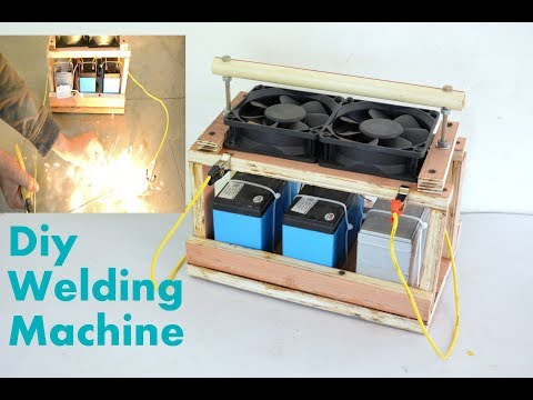 How to Make Welding Machine at Home - 12V Battery DIY