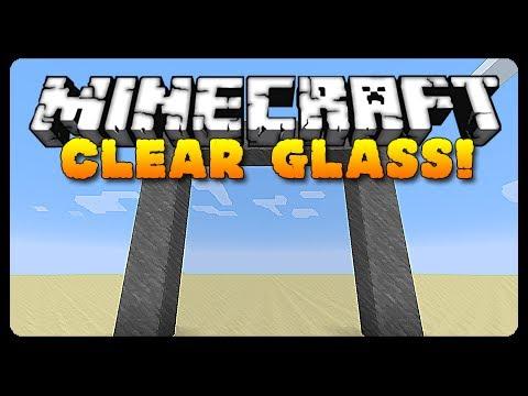 Minecraft: COMPLETELY CLEAR GLASS! (13W42B MC Tutorial)