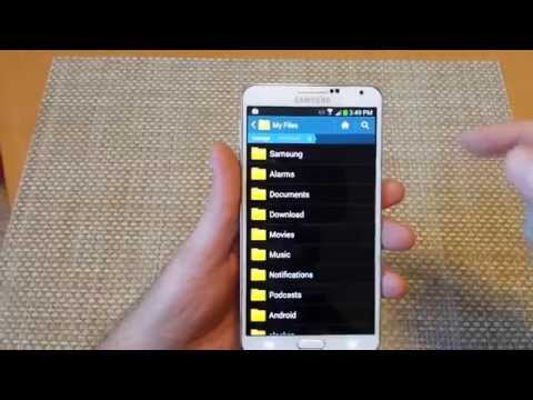 Samsung Galaxy Note 3 Move files folders photos from INTERNAL MEMORY to external SD storage card