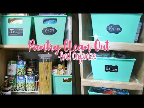 Pantry Organization on a Budget-Clean Out And Organizing My SMALL Pantry-Kitchen Organization