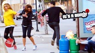 Run For Your Life (Butane Tank On Fire Prank)