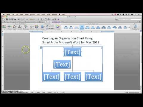 Creating SmartArt in Microsoft Word for Mac 2011
