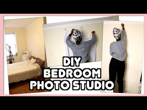 How to Turn a Small Bedroom into a Photo Studio || SHANiA DIY