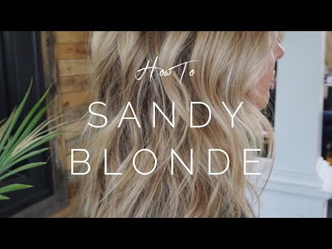 How To Get Sandy Blonde Highlights || Hair Tutorial