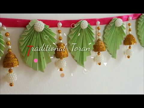 DIY Trendy Toran/Door hangings with paper at home |Diwali decoration ideas #2| Bandhanwar ideas