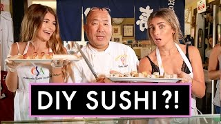 HOW TO MAKE SUSHI W/ LAUREN ELIZABETH! | LA Made w/ Olivia Jade
