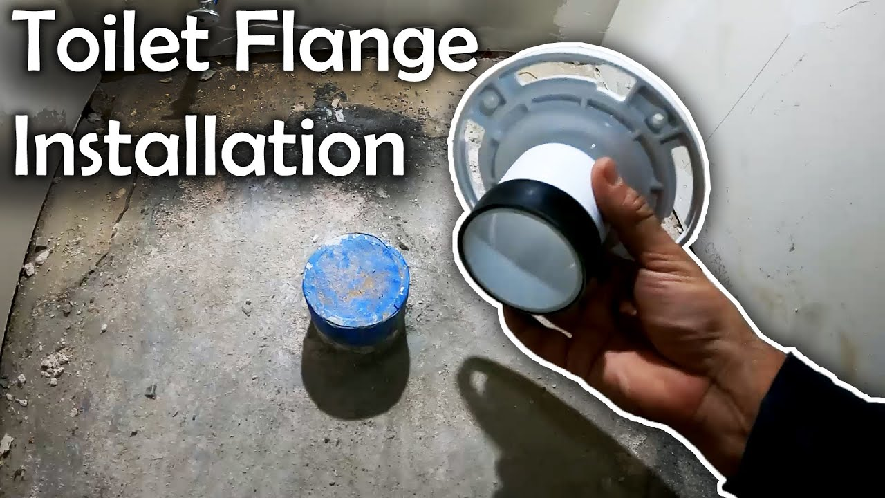 How to Install a toilet flange   New Construction toilet Flange Installation
