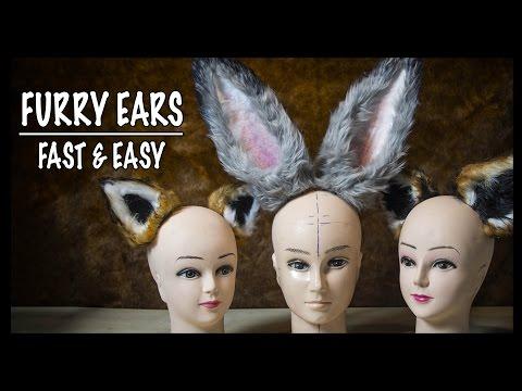 Furry ears - fast & easy! ► Cosplay Tutorial