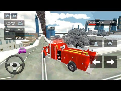 Fire Truck Rescue Simulator #4 - Firefighter Rescue Sim  - Android Gameplay FHD