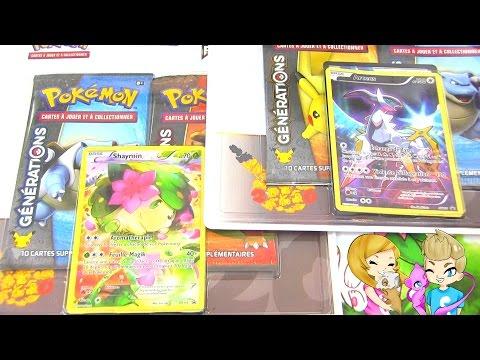 Ouverture de 2 Duopacks Pokémon XY Générations FR : ARCEUS, SHAYMIN.. MAGNIFIQUE !