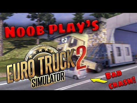 ROAD TRAIN!! (Euro Truck Simulator 2) **SUCH A BAD CRASH!**