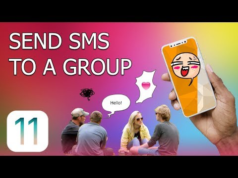 How to Send SMS messages to a Group on iPhone (iOS 11)