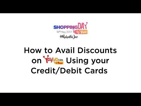 How to Avail Discounts on Yayvo using Debit/Credit Card - Yayvo.com