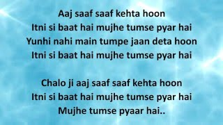 ITNI SI BAAT HAI LYRICS – Azhar   Arijit Singh, Emraan Hashmi, Prachi Desai