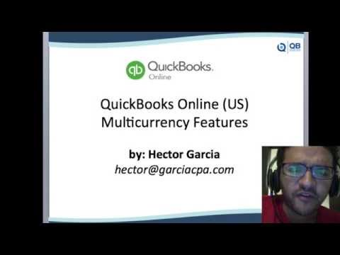 QuickBooks Online 2016 Tutorial: Multi-currency in QBO (US version)