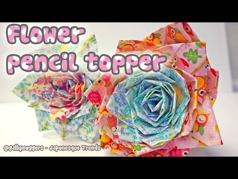 DIY Duct Tape Flower Pencil Topper Tutorial - How To