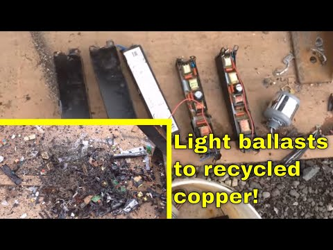 MBMMLLC.com: Scrapping/recycling light ballasts for copper, transformers, and circuit boards