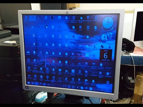 HP HSTND-2B02. MONITOR. repair Bad display color on the monitor
