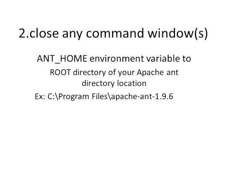 How to Set up JAVA_HOME,ANT_HOME