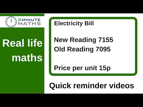 How to solve real life maths problems - electricity bill question